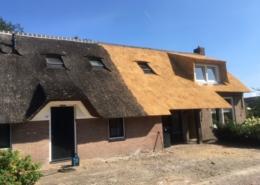 Gedeeltelijk vervangen van rieten dak Hijken